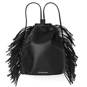 Victoria's Secret Faux Leather Fringe Backpack
